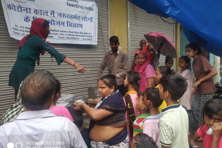7. Food distribution by Nidan