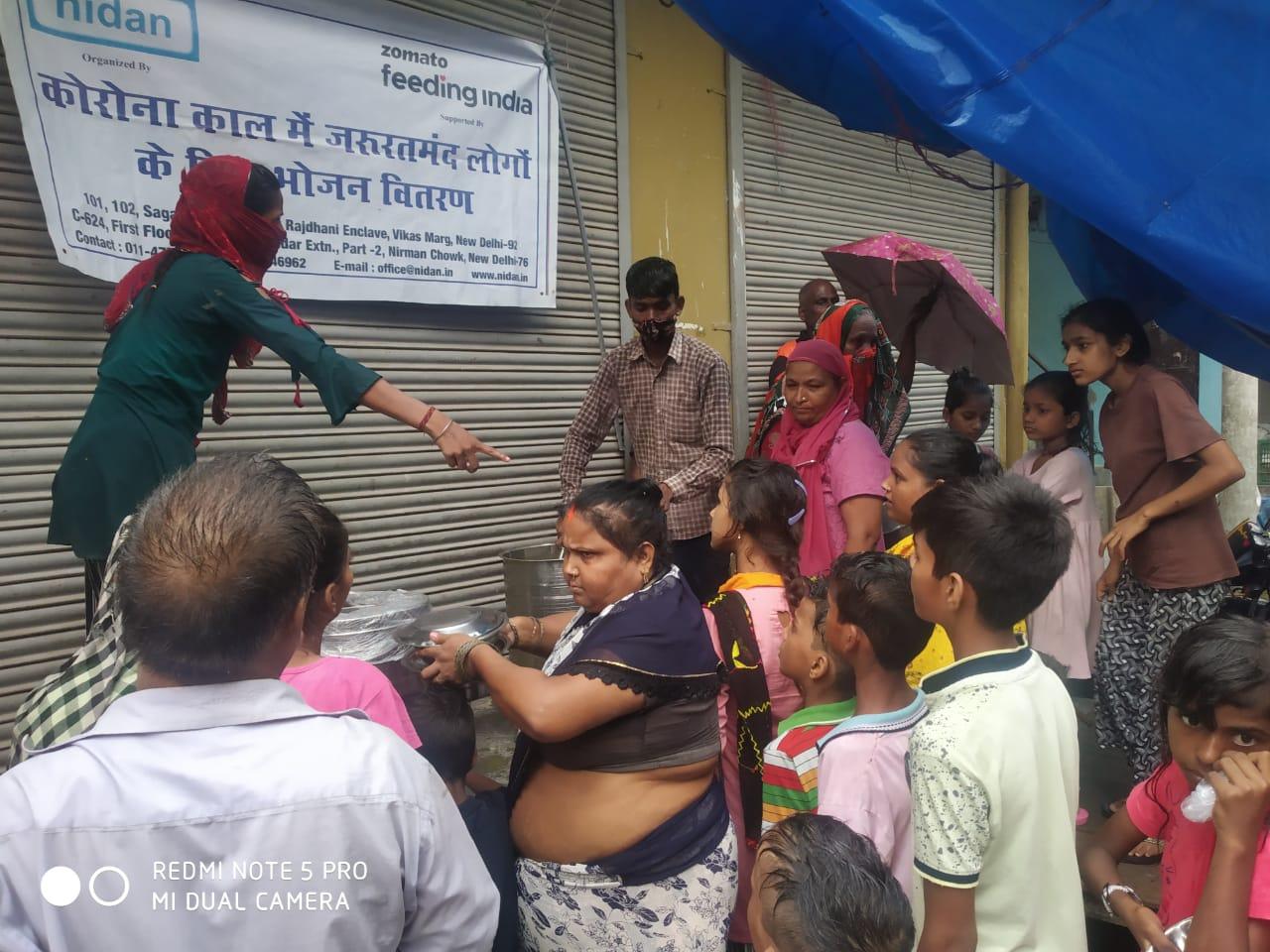 7.Food distribution by Nidan